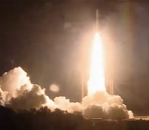 ARIANE 5 LAUNCHES WITH OPTUS 10 AND MEASAT-3B