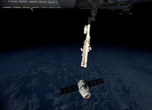 SUPPLIES DELIVERED TO SPACE STATION BY DRAGON CARGO CRAFT