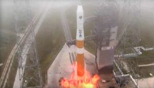DELTA 4 ROCKET BOOSTS NEW GPS SATELLITE INTO ORBIT