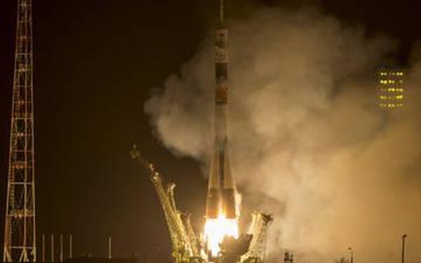 SOYUZ ROCKET LAUNCHES YEARLONG SPACE STATION CREW