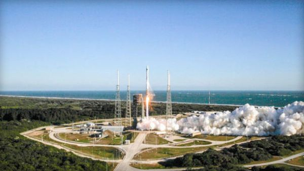 ATLAS 5 ROCKET BOOSTS GPS SATELLITE INTO SPACE
