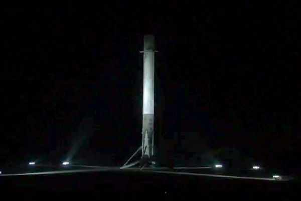 SPACEX SUCCESSFULLY LANDS FALCON 9 ROCKET ON SOLID GROUND FOR THE SECOND TIME