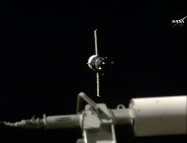 ROBOTIC RUSSIAN SUPPLY SHIP ARRIVES AT SPACE STATION