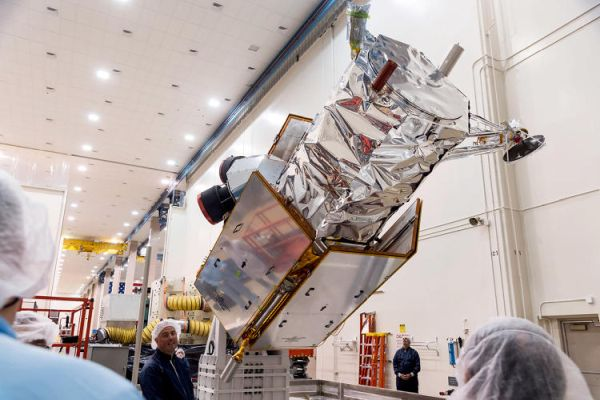 YOU WON'T BELIEVE WHAT IT TAKES TO MOVE A 2-TON SATELLITE ACROSS CALIFORNIA