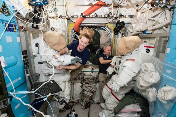 ASTRONAUTS TAKING SPACEWALK TO INSTALL NEW SPACE STATION DOCKING PORT TODAY: WATCH LIVE
