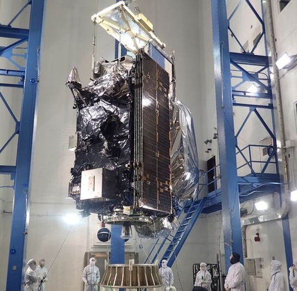 GOES-R WEATHER SATELLITE ARRIVES FOR NOVEMBER LAUNCH