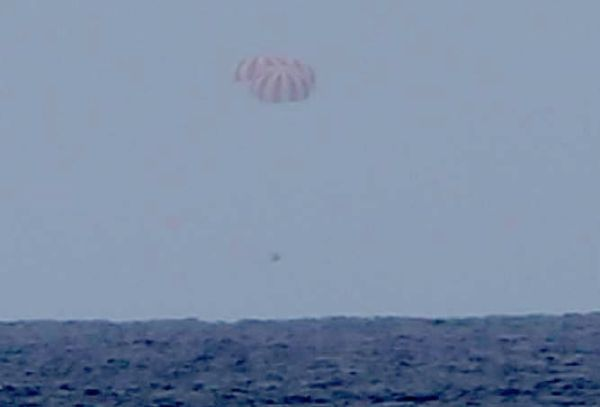 DRAGON SPACECRAFT SPLASHES DOWN WITH STATION RESEARCH SPECIMENS