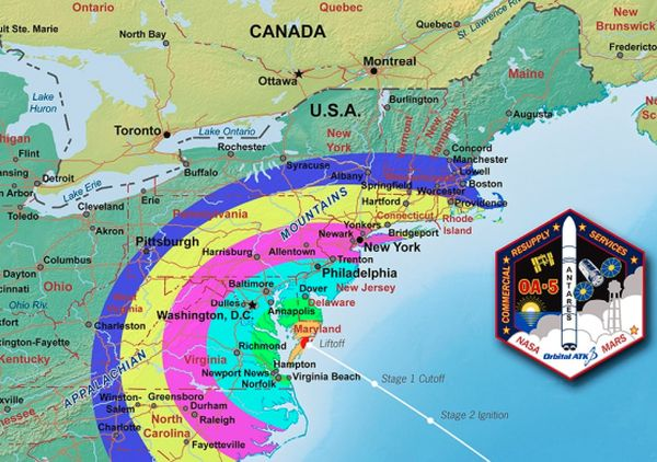 HOW TO WATCH SUNDAY'S ANTARES ROCKET LAUNCH IN THE NIGHT SKY
