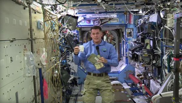 THANKSGIVING IN SPACE: SPACE STATION COMMANDER SHANE KIMBROUGH PLANS FEAST