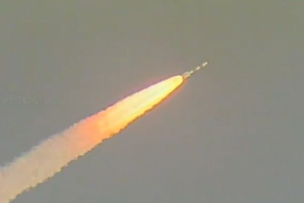 RESOURCE-MAPPING SATELLITE BLASTS OFF FROM INDIA