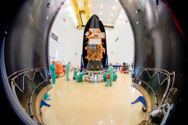 EUROPE'S NEXT SENTINEL LAND IMAGING SATELLITE MATED TO ROCKET BOOSTER
