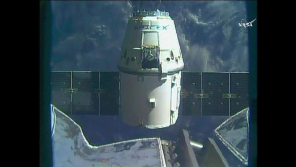 SPACEX DRAGON SPACECRAFT DEPARTS SPACE STATION