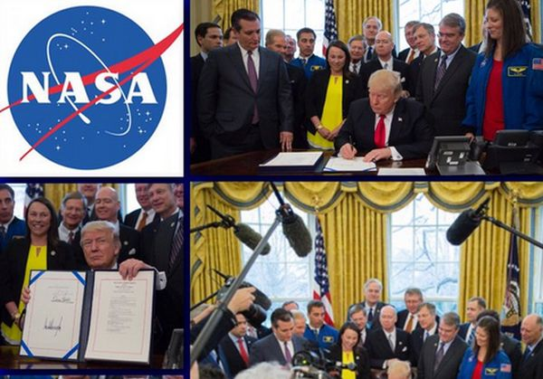 PRESIDENT TRUMP SIGNS NASA AUTHORIZATION BILL