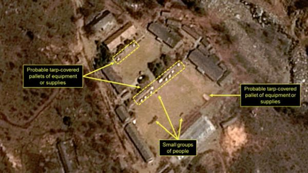 SATELLITE IMAGES SHOW NORTH KOREA MAY BE PREPARING FOR NUCLEAR TEST