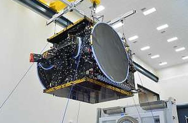 SSL SATELLITE BUILT FOR BULGARIA SAT ARRIVES AT CAPE CANAVERAL FOR FOR FALCON 9 LAUNCH
