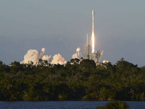 SPACEX LAUNCHES SATELLITE ATOP FALCON 9 ROCKET