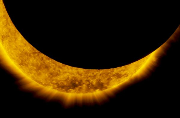 A NASA SATELLITE JUST CAUGHT THIS AWESOME SOLAR ECLIPSE FROM SPACE