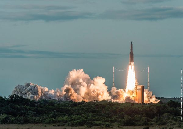 COMMUNICATION SATELLITE GSAT-17 LAUNCHED FROM FRENCH GUIANA