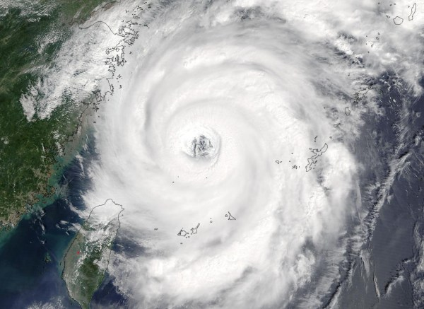 NASA'S TERRA SATELLITE SPIES TYPHOON TALIM'S LARGE EYE