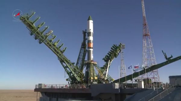 LAUNCH OF SOYUZ 2.1A WITH PROGRESS MS-07 SCRUBBED SECONDS BEFORE LIFTOFF