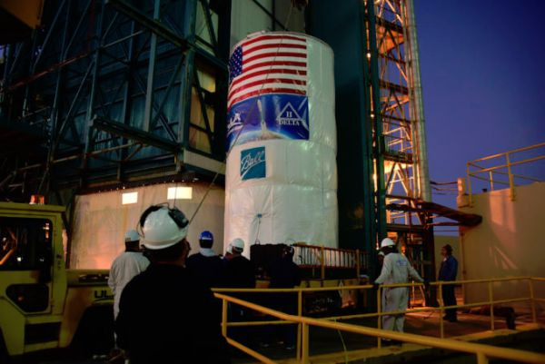 BATTERY CHANGEOUT DELAYS WEATHER SATELLITE LAUNCH FROM CALIFORNIA
