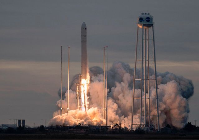 ORBITAL ATK ROCKET LAUNCHES NASA CARGO TO SPACE STATION IN SPECTACULAR MORNING LIFTOFF
