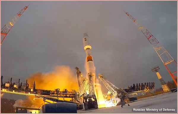 SOYUZ ROCKET DELIVERS A MILITARY SATELLITE