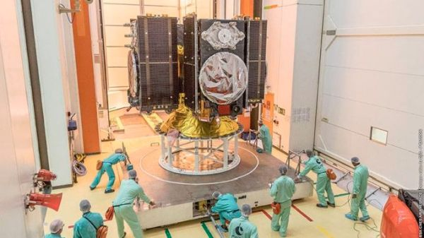 GALILEO NAVIGATION SATELLITES BUTTONED UP FOR LAUNCH ON ARIANE 5 ROCKET