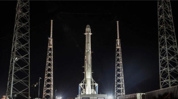 SPACEX READIES USED ROCKET FOR SPACE STATION FLIGHT