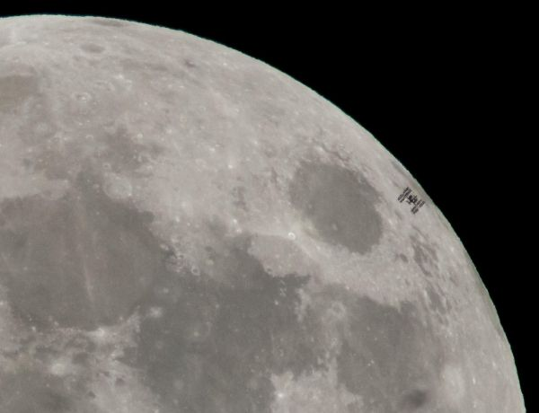 NASA SPOTS SPECTACULAR ISS TRANSIT ACROSS THE FULL MOON
