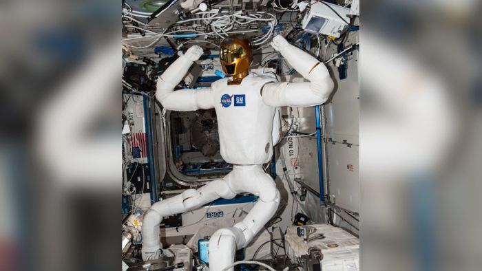 NASA EVICTS GOLD-HELMETED ROBO-ASTRONAUT FROM SPACE
