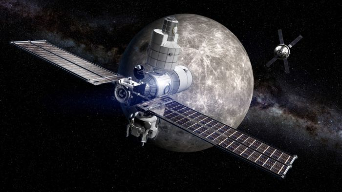 NASA'S NEXT STOP: A SPACE STATION ORBITING THE MOON