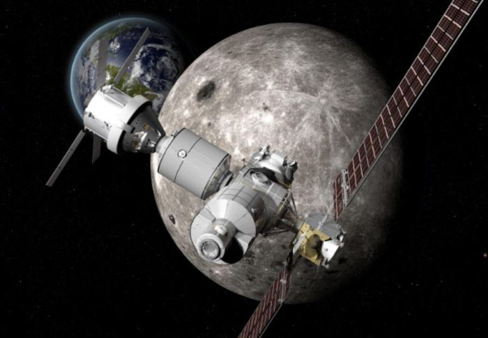 NASA MULLS A MINI SPACE STATION FOR THE MOON