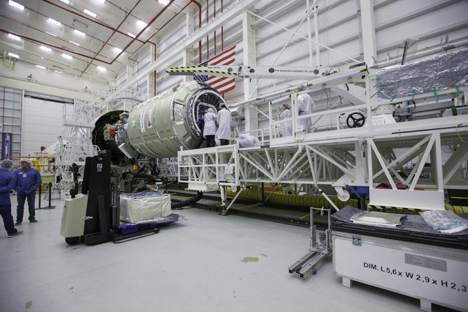 Orbital ATK readies cargo ship for launch to space station