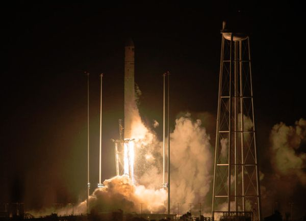 Antares Rocket Launches NASA Cargo to Space Station in Dazzling Predawn Liftoff