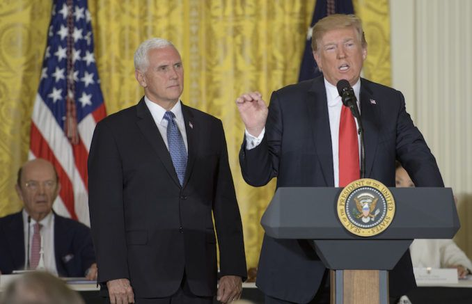 "TRUMP CALLS FOR ESTABLISHMENT OF U.S. ""SPACE FORCE"""