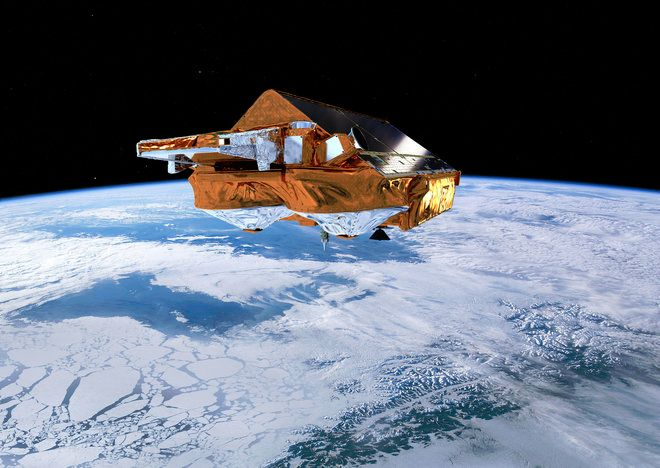 EUROPE'S ICE-WATCHING SATELLITE DODGES SPACE JUNK IN ORBIT