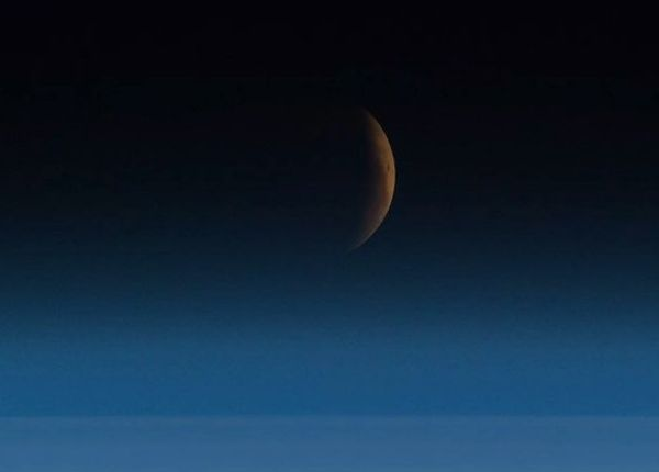 Astronauts Capture The Blood Moon From Space, And The Photos Are Breathtaking