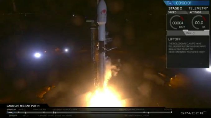 Indonesian communications satellite deployed in orbit by SpaceX
