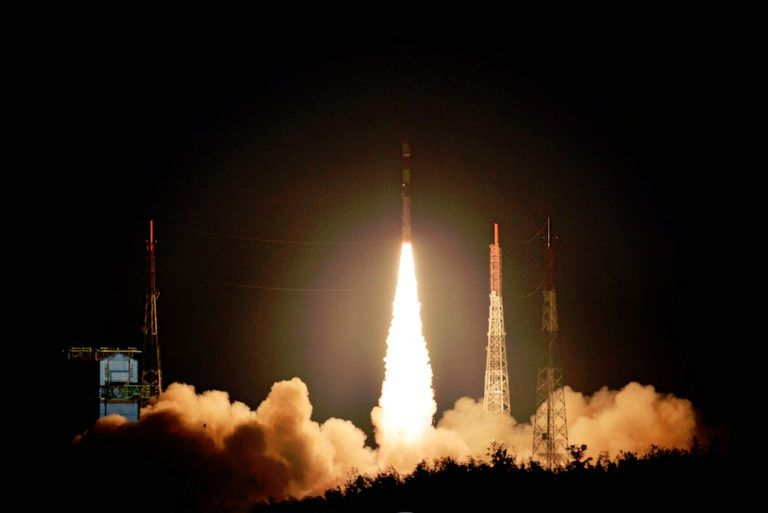 BRITISH EARTH-IMAGING SATELLITES RIDE INDIAN ROCKET INTO ORBIT