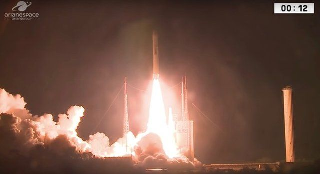 ARIANE 5 ROCKET LOFTS 2 SATELLITES ON MILESTONE 100TH LAUNCH