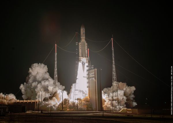 ARIANE 5 LAUNCHES TWO SATELLITES ON 7-YEAR VOYAGE TO MERCURY
