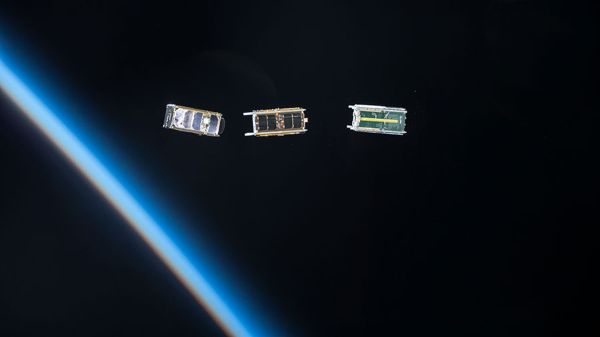 TINY SATELLITES POSE A SWARM OF OPPORTUNITIES — AND THREATS