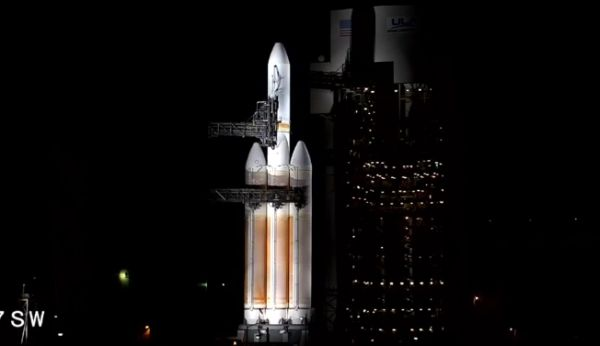 DELTA 4-HEAVY COUNTDOWN ABORTED MOMENTS BEFORE LAUNCH