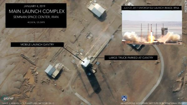 IMAGES SHOW IRAN PREPPING SATELLITE LAUNCH DESPITE POMPEO'S THREAT