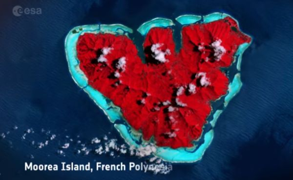 ESA HONORS VALENTINE'S DAY WITH EARTH HEARTS SEEN FROM SPACE