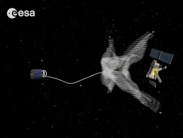 BRITISH SATELLITE TESTS ITS SPACE JUNK HARPOON