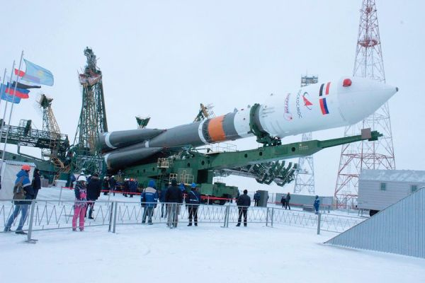 SOYUZ READY FOR LAUNCH WITH EGYPTIAN IMAGING SATELLITE