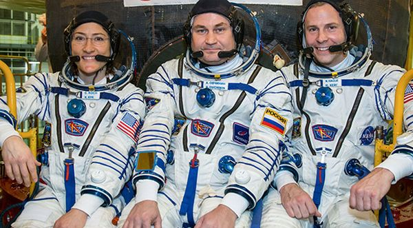 NEXT SPACE STATION CREW LAUNCH SET THURSDAY ON SOYUZ FROM BAIKONUR COSMODROME