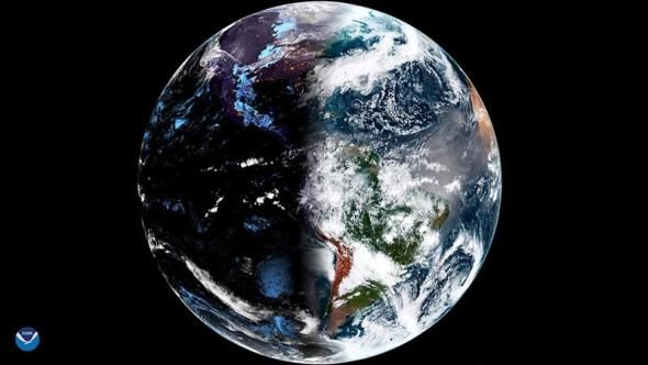 Stunning satellite photo shows what the vernal equinox looked like from 22,300 miles away